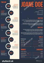 modern resume cv curriculum vitae template stock vector  modern resume cv curriculum vitae template beginning timeline