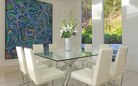 rectangular dining table glass
