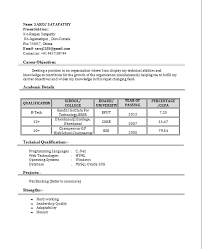resume format for freshers kso48aokls resumes format for freshers