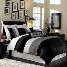 sets brianna king pc set package luxurious  piece king size comforter set bedding bed in a bag black wh