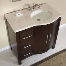 design basin bathroom sink vanities: delicate bathroom vanities aand sinks design idea with white granite countertop also chrome sink