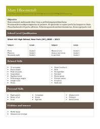 tabular resume templates • hloom comqualified