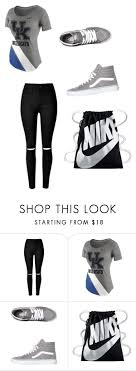 17 best ideas about first day of college college first day of college 📚 by zykieyacooper on polyvore featuring nike and vans