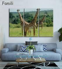 2019 New <b>HD Printed</b> Canvas Painting Animals Wall Art Giraffe ...