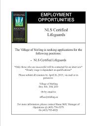 summer job posting village of stirling home