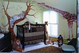 image of jungle theme baby rooms baby nursery ba room wallpaper border