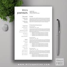 creative resume template modern cv template word cover allcupation or almost professional resume template cv template 1 2