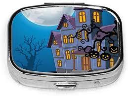 <b>Cartoon</b> Haunted House With <b>Halloween</b> Pill Boxes, Portable ...
