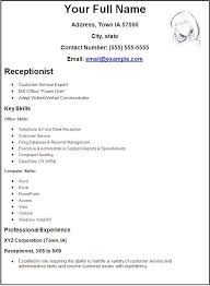 cv template for receptionist job   cover letter buildercv template for receptionist job medical receptionist cv template job description resume receptionist resume template business