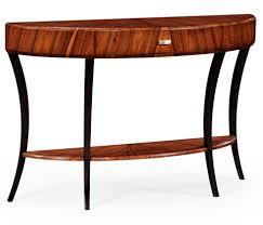 image of art deco large demilune console table art deco style rosewood secretaire 494335
