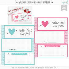 book valentine coupon book template templates valentine coupon book template medium size