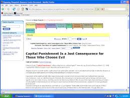 using opposing viewpoints resource center when you see a result that looks good for your research click on the title and you will be brought to the entire article the sidebar on the left will list