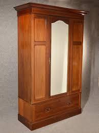 antique wardrobe armoire mirror door maple co quality english mahogany c1910 antique armoires antique wardrobes english