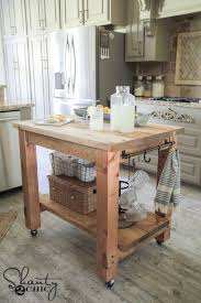 rustic kitchen island: diy mobile kitchen island love the rustic look free plans amp tutorial at shanty