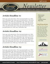 Image result for what is sample newsletter template?