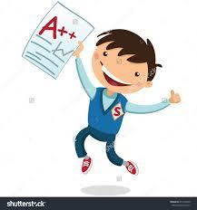 student scoring high grades clipart clipartfest joyful boy received a good