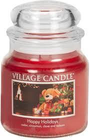 Village Candle <b>Happy</b> Holidays Glass Jar - <b>Ароматическая свеча</b> в ...