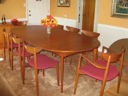 Dining Room Terrific Teak Dining Room Set Consists Of Big Oval - Dining room tables oval