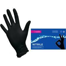 <b>MEDIOK Перчатки нитриловые неопудренные</b> 100шт M Черные ...