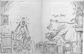 bill slavin illustration working on art for tim beiser s new book there there here is a sample of one of the pencil drawings i recently did for this very funny story