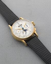Patek Philippe. A very rare and fine 18K gold manual ... - Bonhams