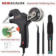 <b>NEWACALOX 50W Electric</b> Soldering Iron Kit Internal Heating ...