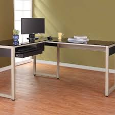 glass computer desk office furniture zoose black l shaped metal affordable home decor home cheap l shaped office desks