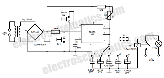 time delay relay circuit 555 time delay relay circuit schematic