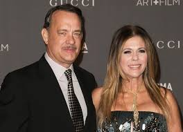 Tom Hanks with cool, Wife Rita Wilson