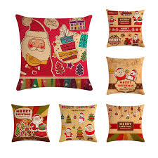 45*45cm Most Popular <b>Lovely Santa Claus Pillow</b> Cover Square ...