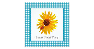 <b>Summer</b> Garden Party <b>Sunflower</b> Picnic Invitation | Zazzle.com
