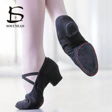 New Woman Dance Shoes Ballet Canvas <b>Soft Bottom</b> Square Low ...