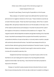 calam eacute o haunted house essay examining the superstition on the calameacuteo haunted house essay examining the superstition on the houses