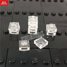 MOC Educational Building Blocks figure <b>100pcs</b>/<b>lot</b> transparent clear ...