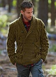 MADE-TO-ORDER MEN HAND KNIT Double Breasted <b>CARDIGAN</b> ...