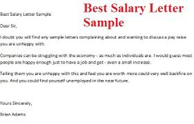 salary cover letter example salary increase letter salary cover