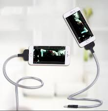 Micro <b>USB</b> Cable 2 in 1 Lazy Bracket Palms Shape Charger Cord ...