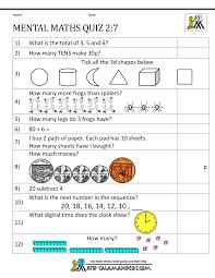 Printable Mental Maths Year 2 WorksheetsYear 2 Mental Maths Sheet 7 · Answers · printable ...