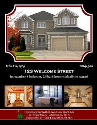 sample flyer designs open house designs advertisements