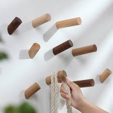 Pure Natural Wood <b>Wall</b> Hanger <b>Wall</b> Robe <b>Hook Solid Wood</b> ...