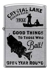 <b>Зажигалка бензиновая Vintage</b> Fishing (серебристая) от Zippo ...