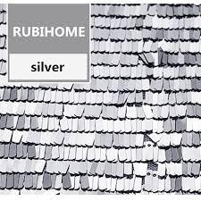 <b>RUBIHOME</b> 1 Meter Width 130cm Silver Sequins Fabric for DIY ...