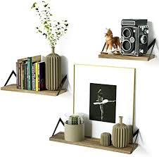 Roolee Floating Shelves <b>Decorative</b> Wall Shelf in <b>Retro Style</b> with ...