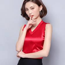 <b>Korean Fashion Silk</b> Women Tank Tops Streetwear <b>Satin</b> Vest ...