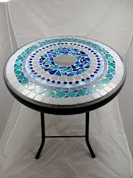 Round <b>mosaic side table</b> or <b>plant</b> stand - RESERVED FOR WENDY ...