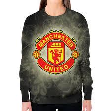"""Свитшот женский с полной запечаткой """"<b>Манчестер Юнайтед</b> ..."""