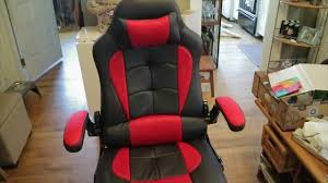 Aminiture <b>Reclining Office Gaming Chair</b> in Black and Red - YouTube