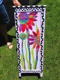 funky diva paint and fabric decoupagemaybe create a wall hanging this way on a carolyn funky furniture