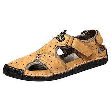 <b>Summer Men's</b> Fisherman <b>Sandals</b> Closed toe <b>Buckle</b> Casual <b>shoes</b> ...