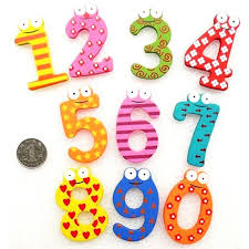 Kids Number <b>Cartoon</b> Educational <b>Toys Wooden</b> Fridge Magnet ...